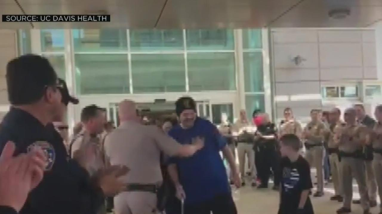 Officer Hit By DUI Driver Returns To Duty