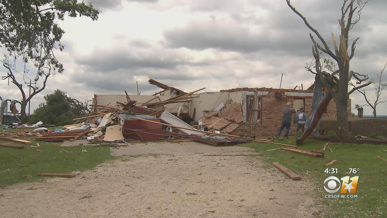 A Look At The Extensive Tornado Damage In Hill County Town Of Blum