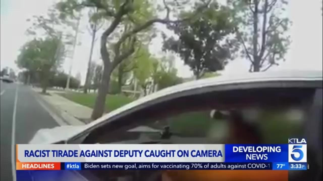 Woman caught on camera going on racist rant, calling deputy a 'murderer' during traffic stop