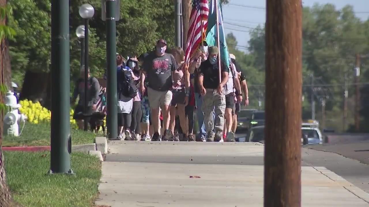West Coast relay walks through Sacramento in honor of fallen military members, first responders