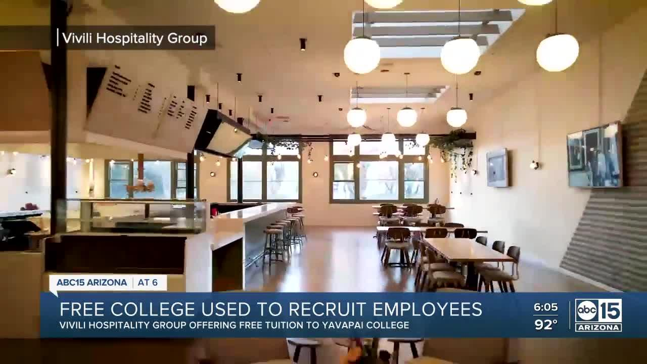 Free college used to recruit employees