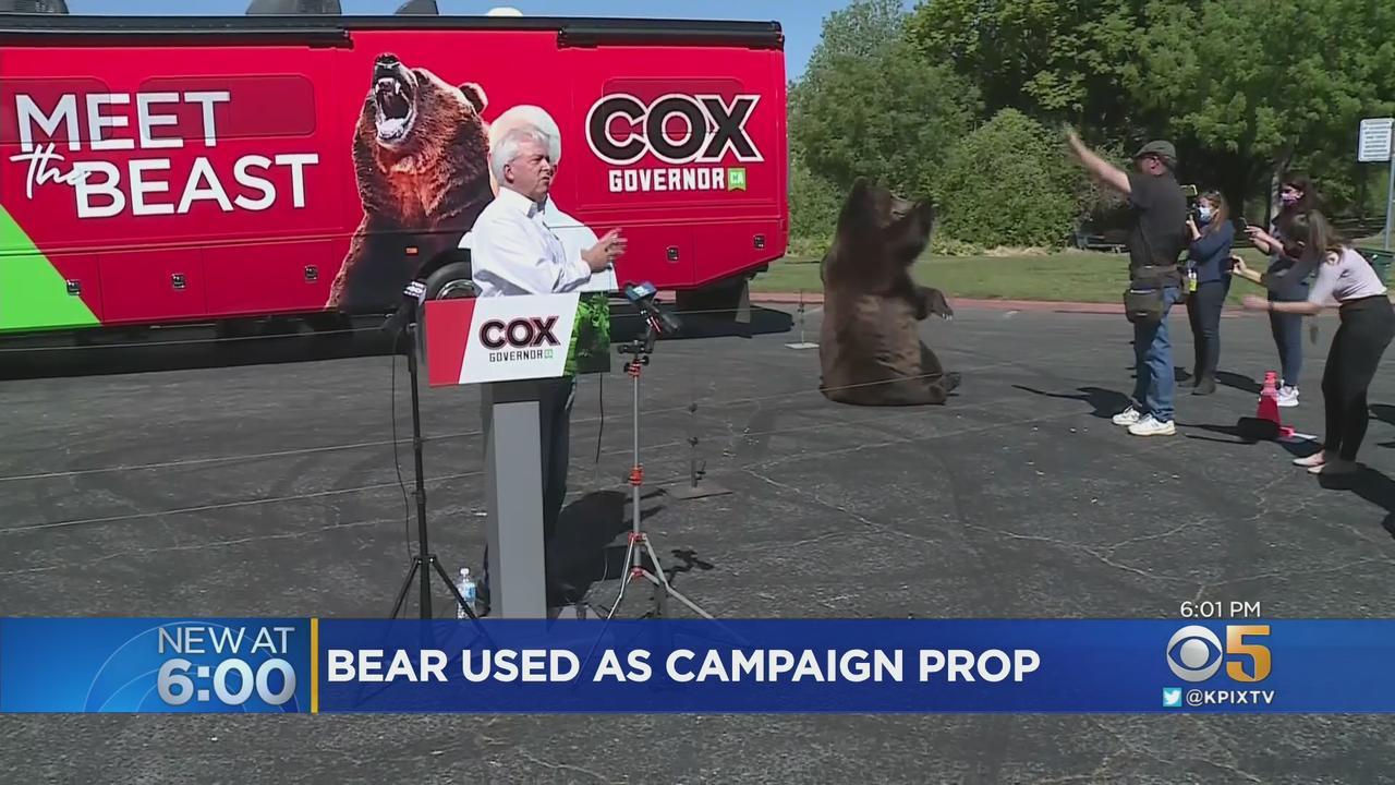 California Recall: GOP Candidate John Cox Brings Bear, Touts Campaign Against Newsom