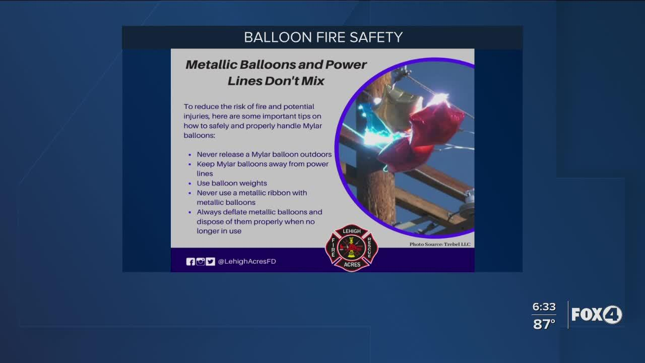 Balloons pose fire and environmental risks