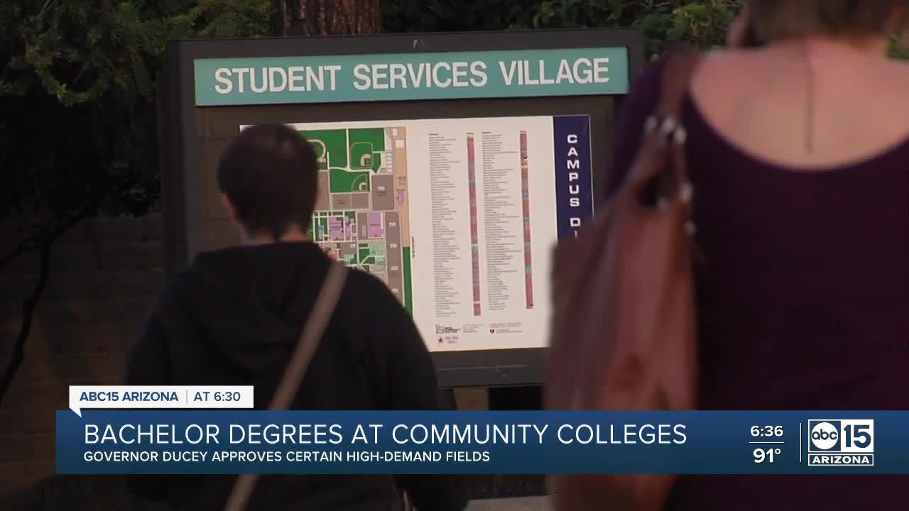 Ducey signs into law a bill allowing community colleges to offer limited four-year college degrees