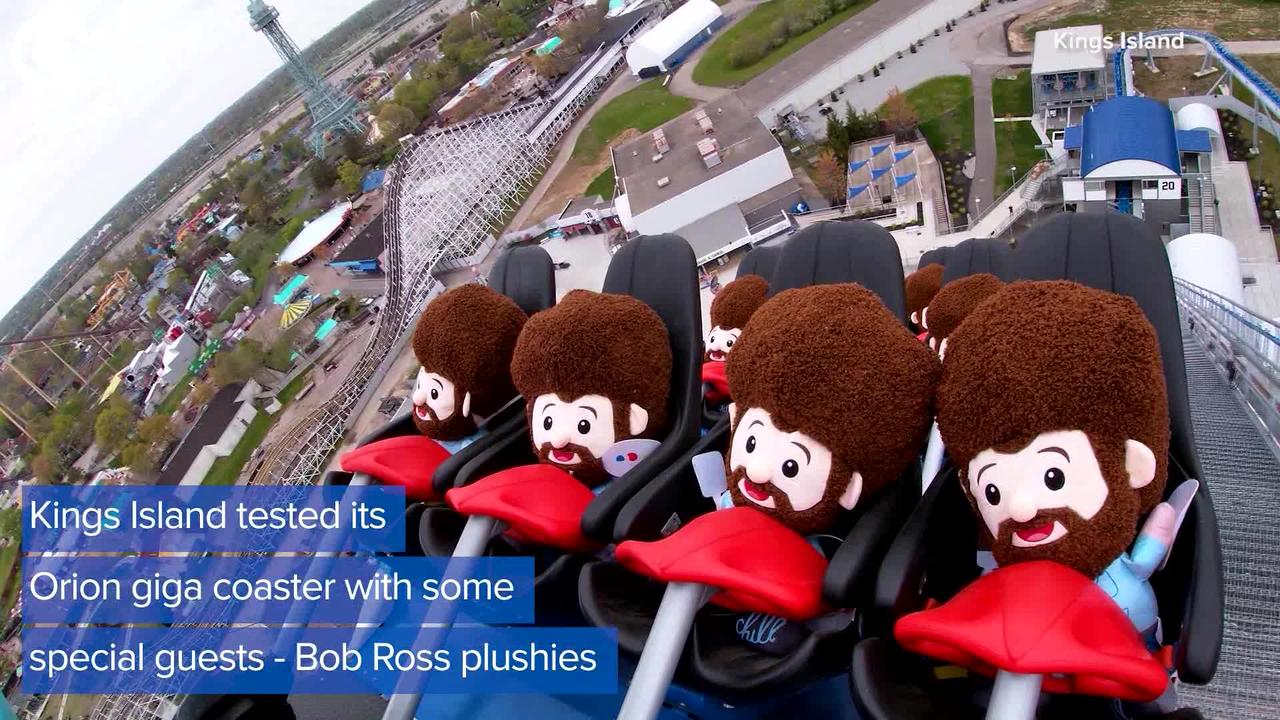 WEB EXTRA: Bob Ross Plushies Ride On Roller Coaster