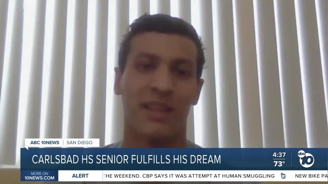 Carlsbad HS senior fulfills his dream