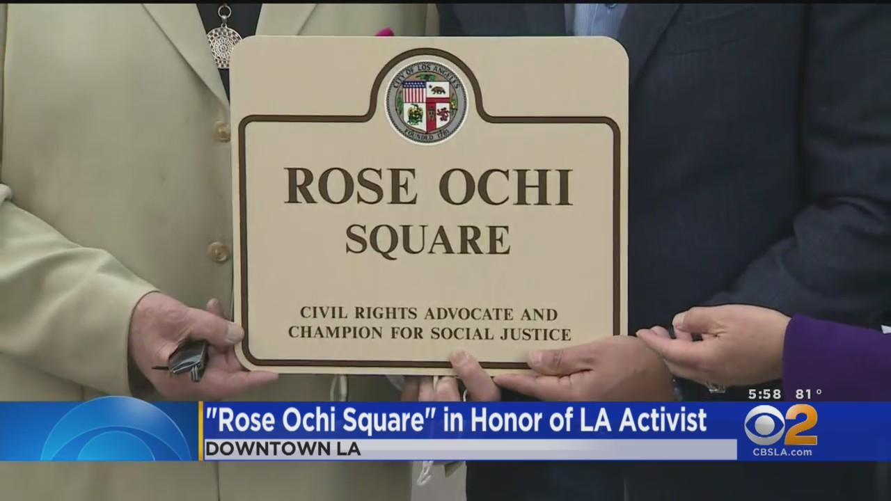 Little Tokyo Intersection Named In Honor Of Civil Rights Leader Rose Ochi