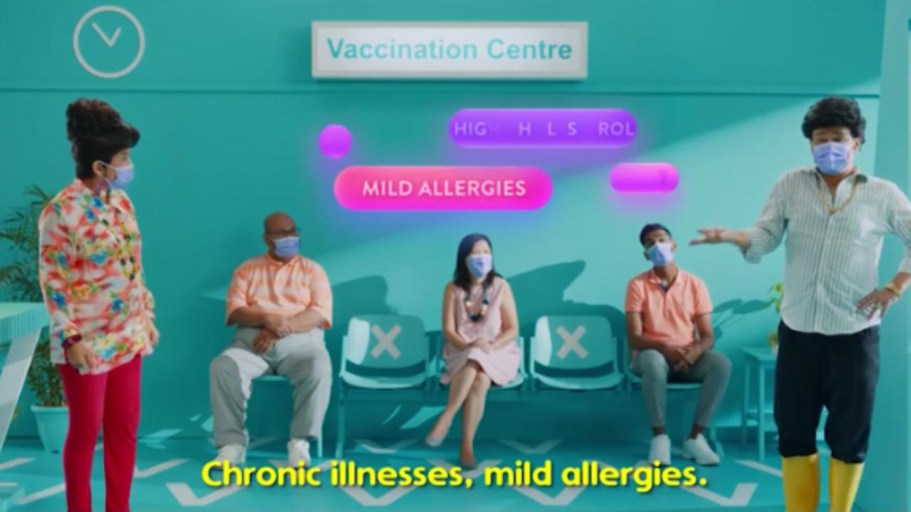 Watch Singapore's catchy new Covid-19 vaccine PSA