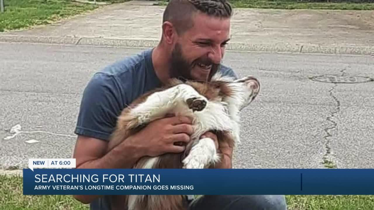 Tulsa military vet searches for lost dog