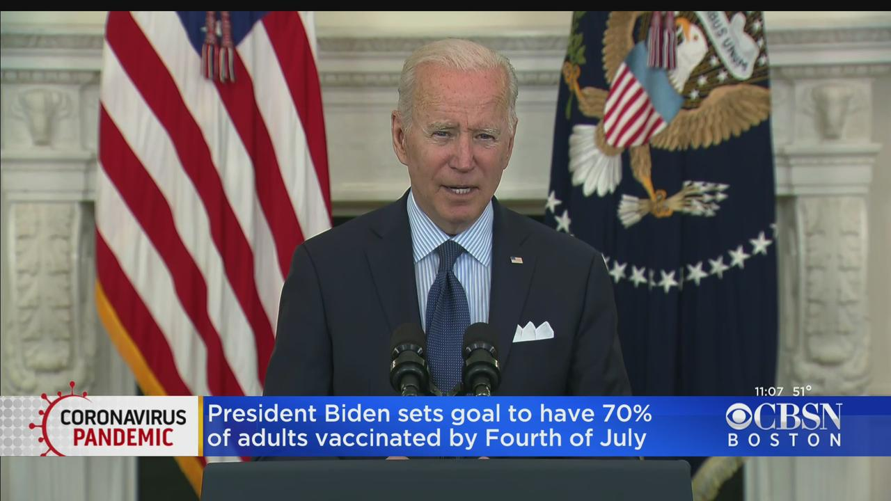 President Biden Sets Goal To Have 70% Of Adults Vaccinated By July 4