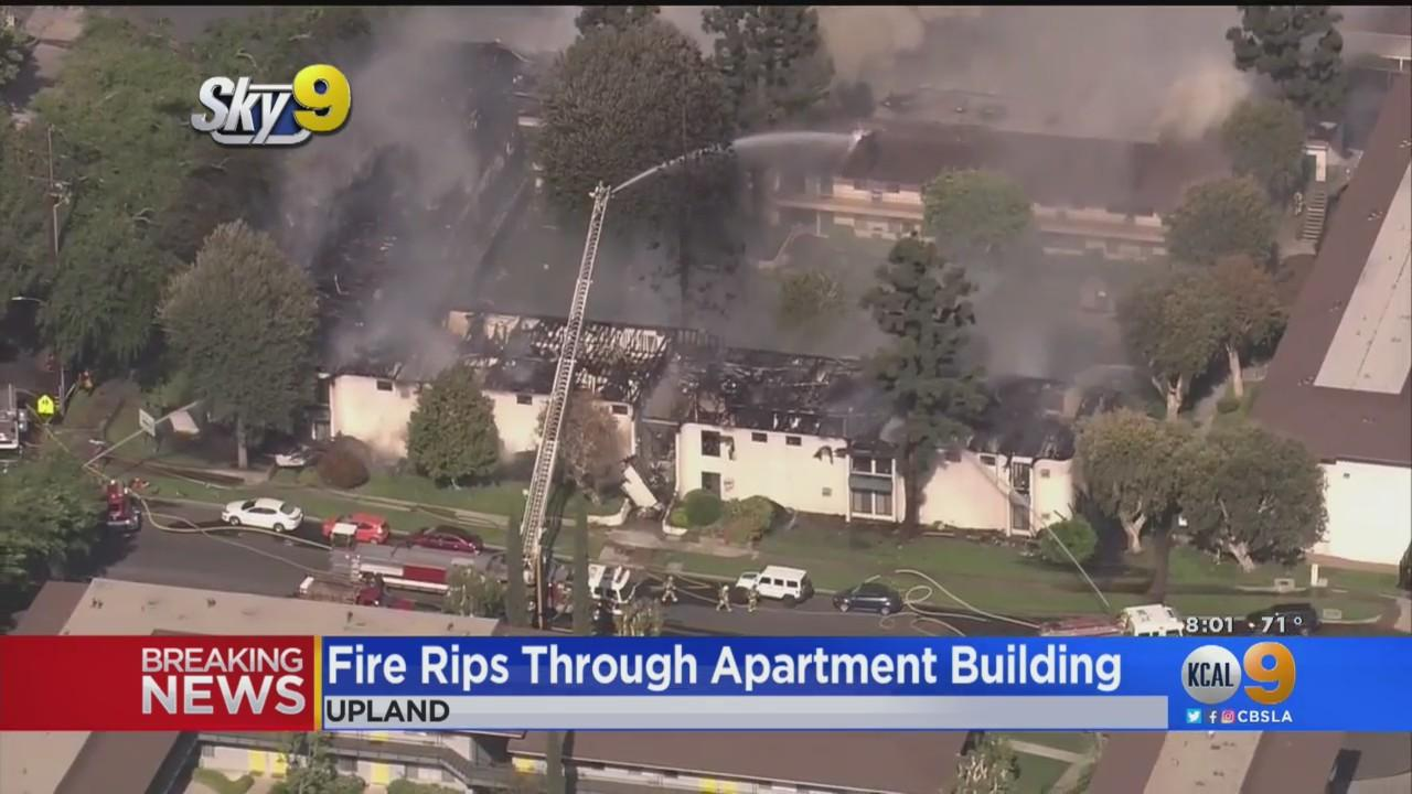 Fire Crews Extinguish 3-Alarm Fire At Upland Apartment Complex, At Least 40 Units Damaged