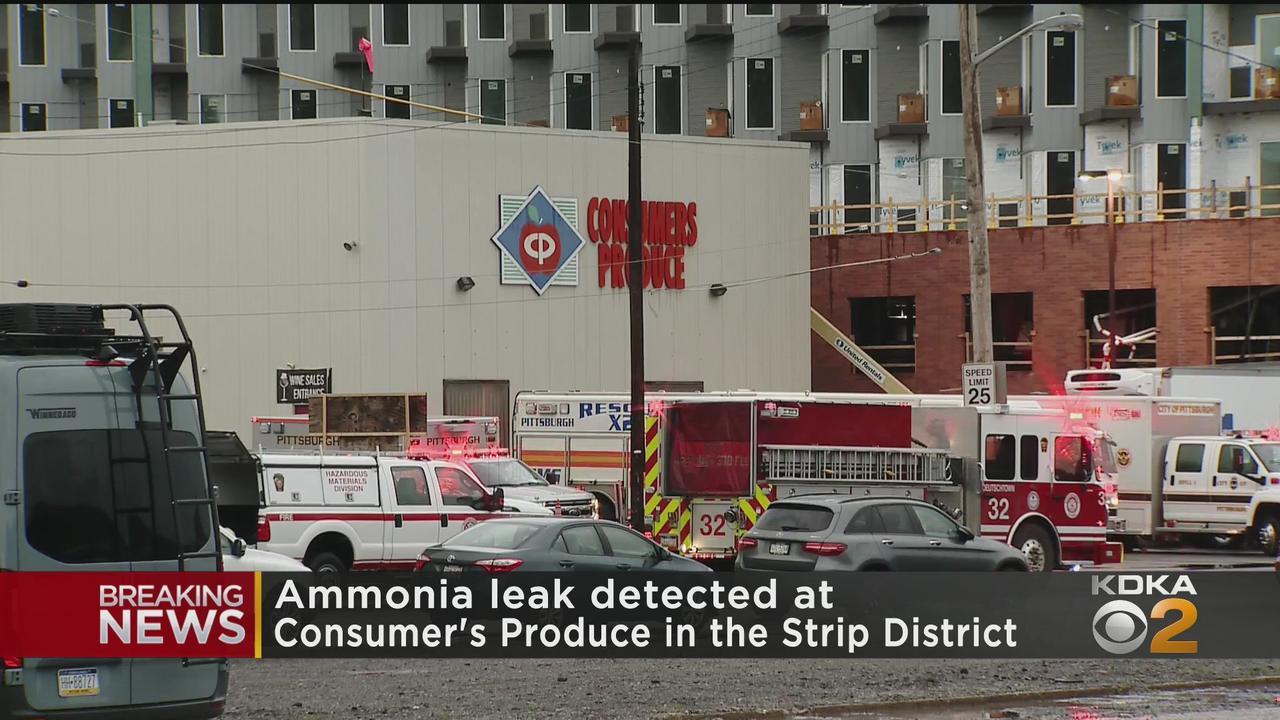 Hazmat Responds To Ammonia Leak In Strip District