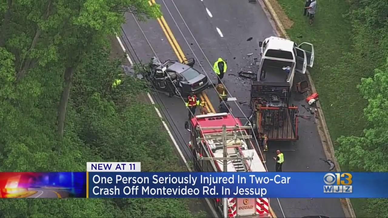 1 Person Seriously Injured In 2-Car Crash Off Montevideo Road In Jessup