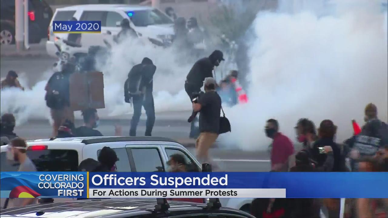 2 Denver Police Officers Suspended For Actions During May Protests