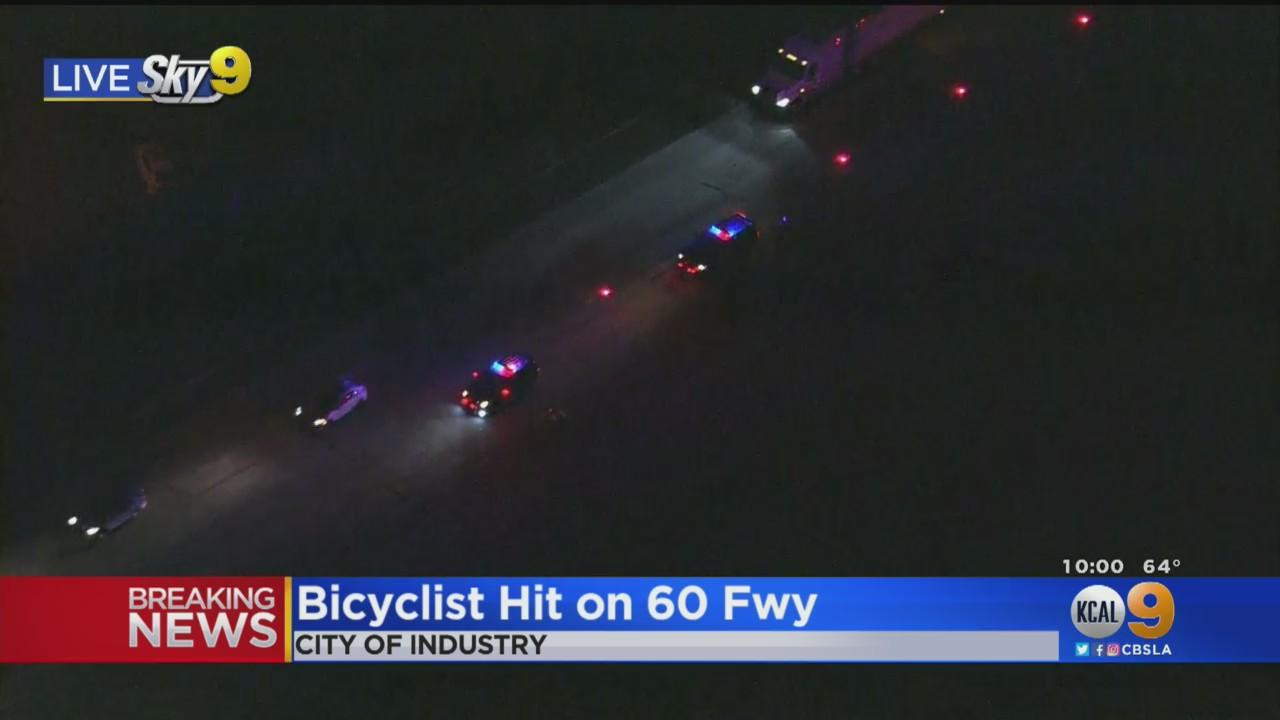 Bicyclist Hit, Killed On 60 Freeway In City Of Industry