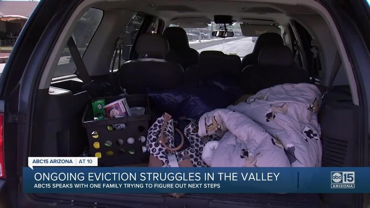 ABC15 follows Valley family through aftermath of eviction