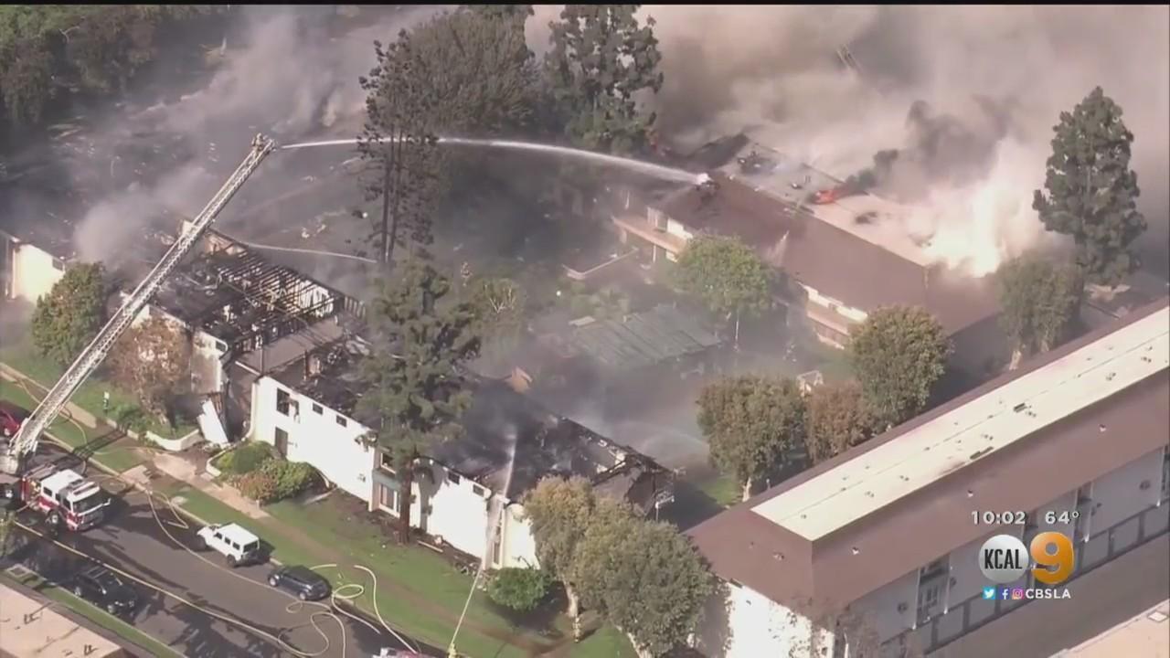 Fire Crews Extinguish 3-Alarm Fire At Upland Apartment Complex, 51 Units Damaged