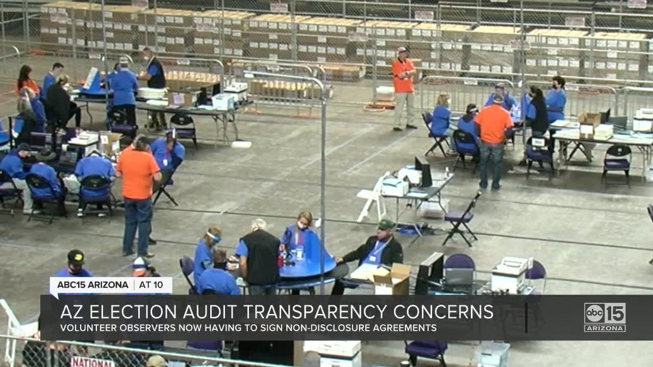Maricopa County Senate audit observers forced to sign non-disclosure agreements