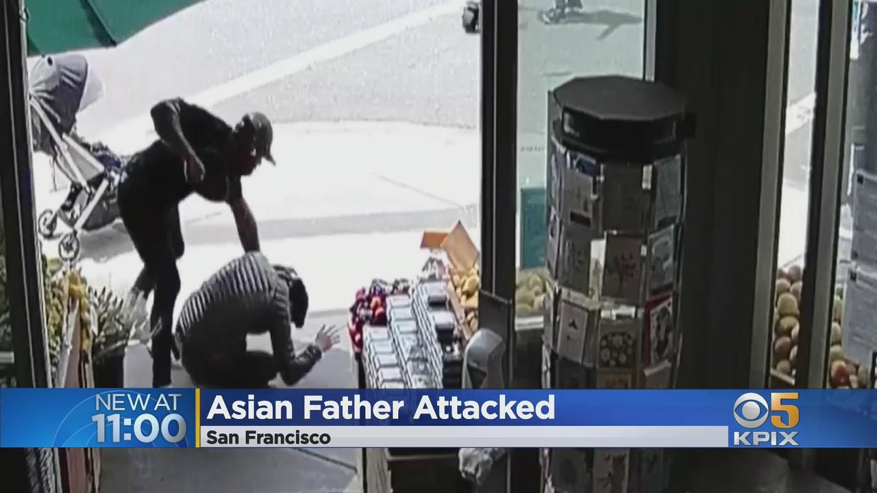 Asian American Attack: Assailant Punching Asian Man Pushing Stroller In SF Caught On Video