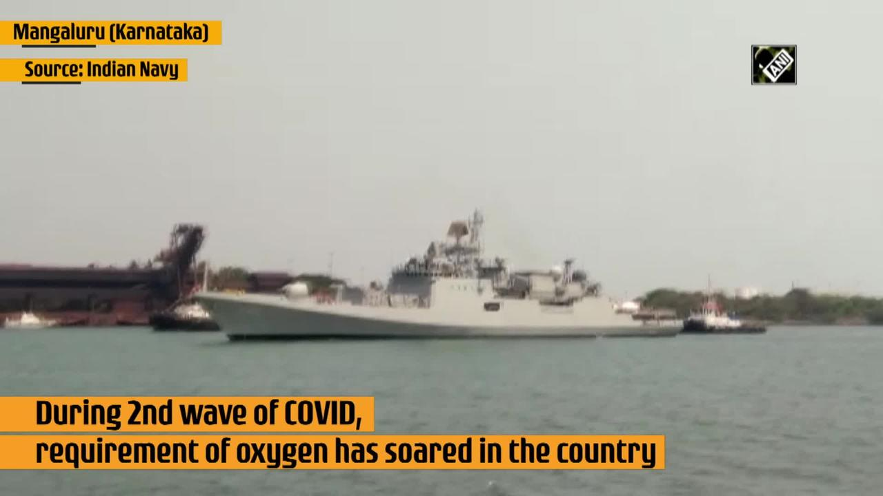 INS Talwar arrives in India with 54 tons liquid oxygen