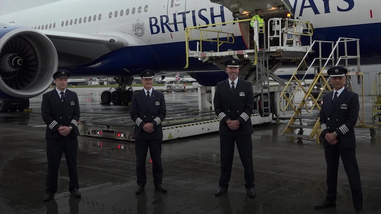BA pilots hail 'incredible' medical aid flight to India