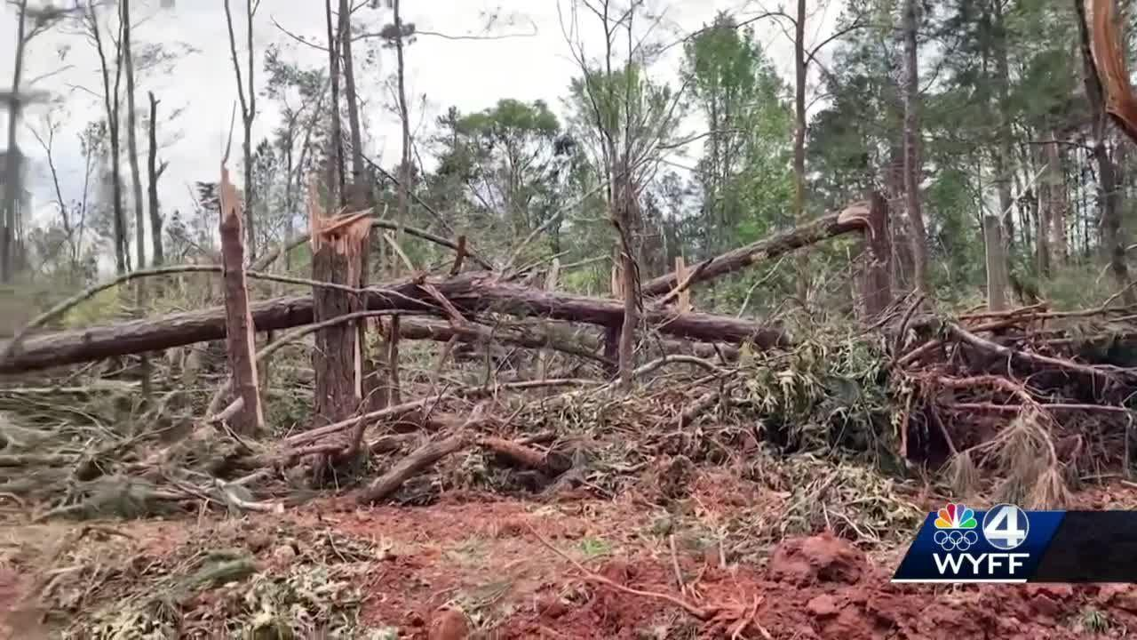 Longest-tracked tornado in Upstate since 1994 blew through Monday