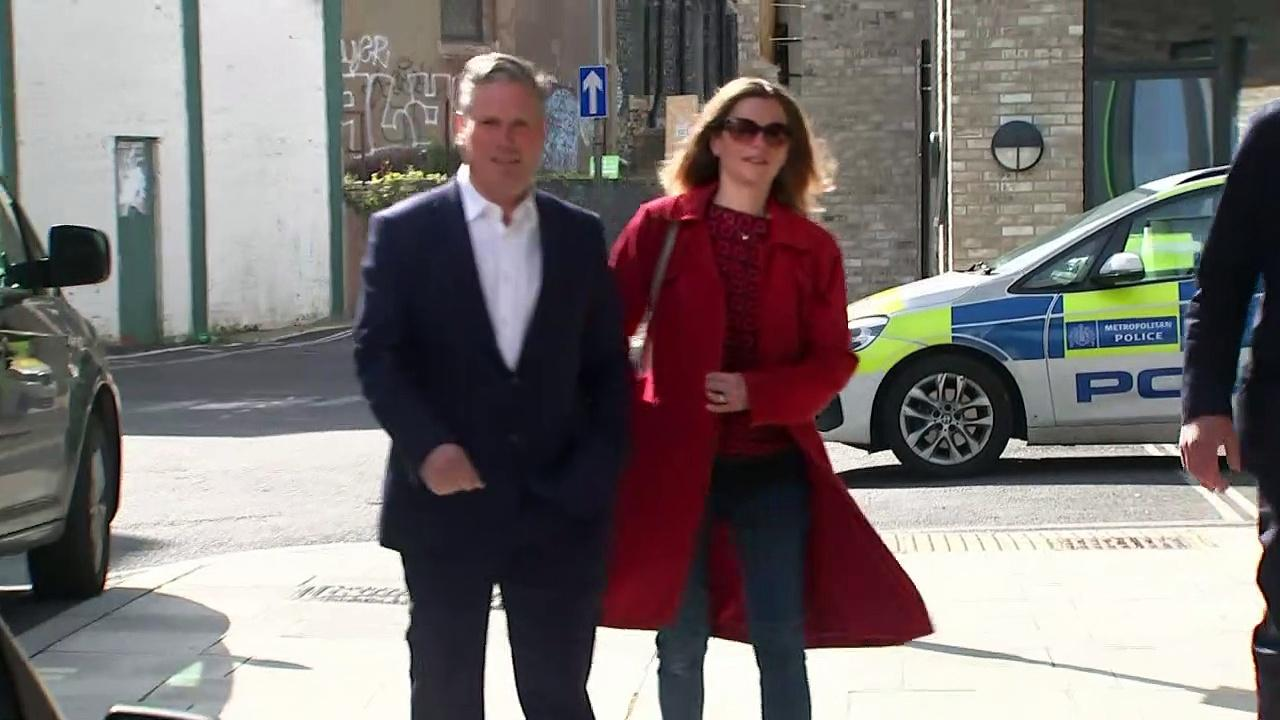Keir Starmer casts election votes