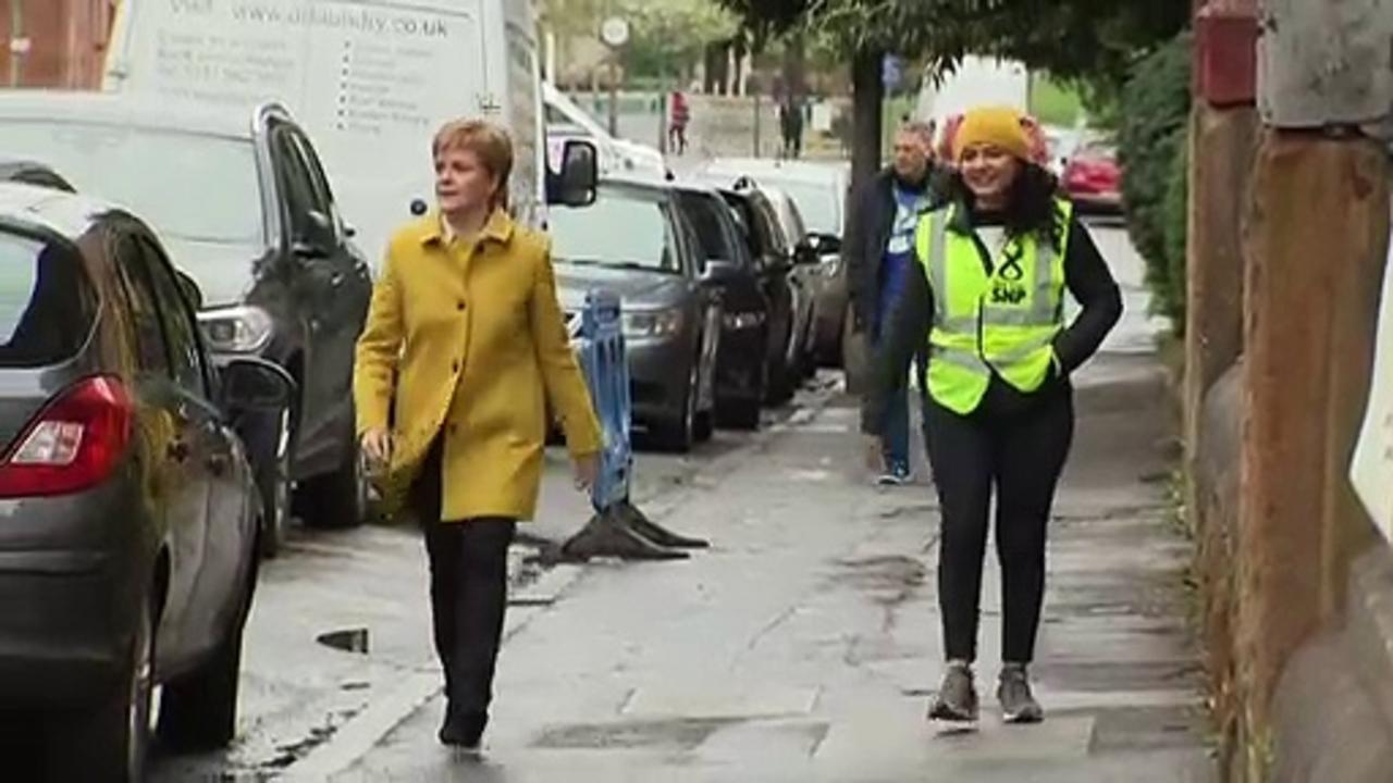 Sturgeon and Sarwar cast their election votes