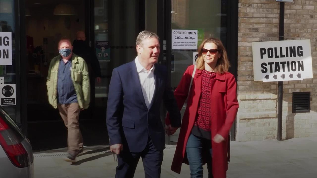 Sir Keir Starmer casts vote in 'Super Thursday' local elections