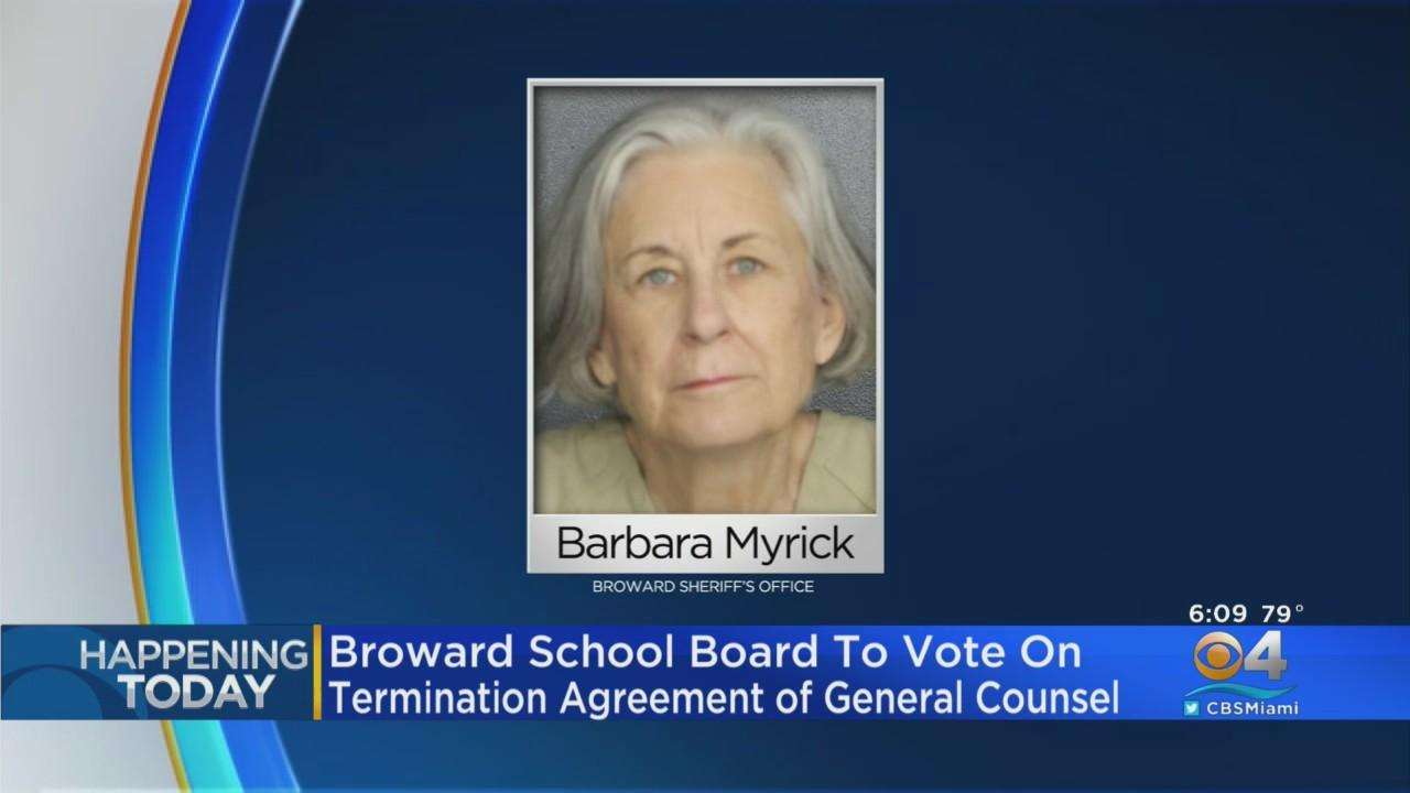 Broward School Board Meets To Discuss Exit Deal For General Counsel