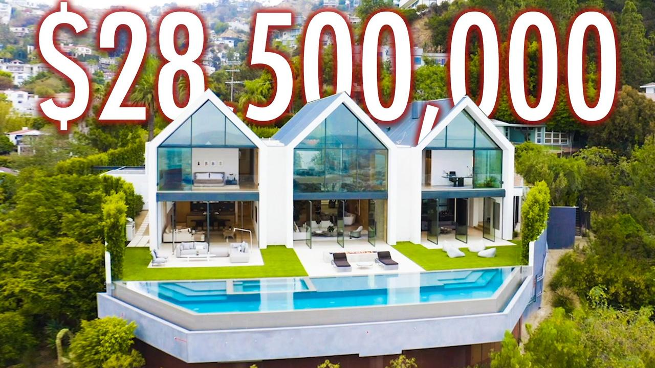 Inside A Brand New $28.5M Hollywood Hills Mansion