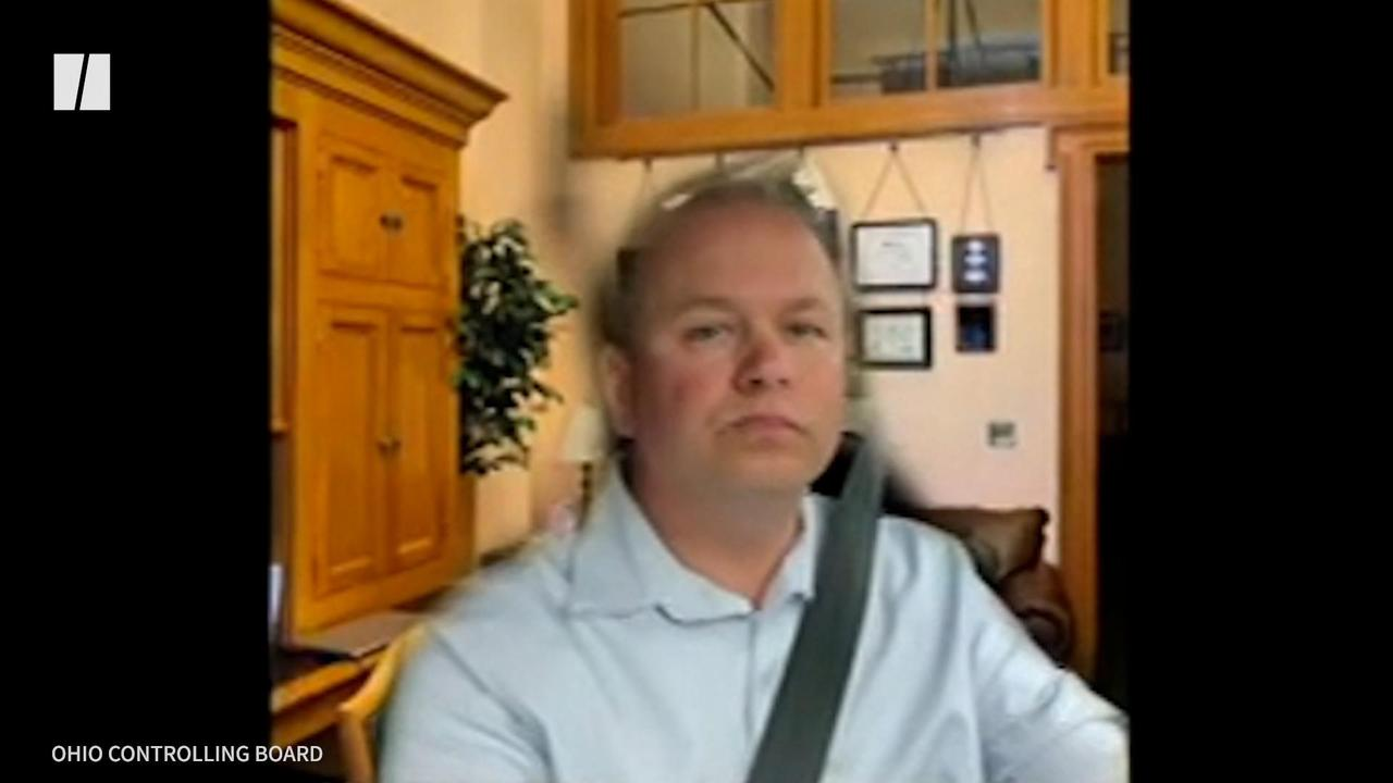 Ohio Senator's Zoom Background Bust