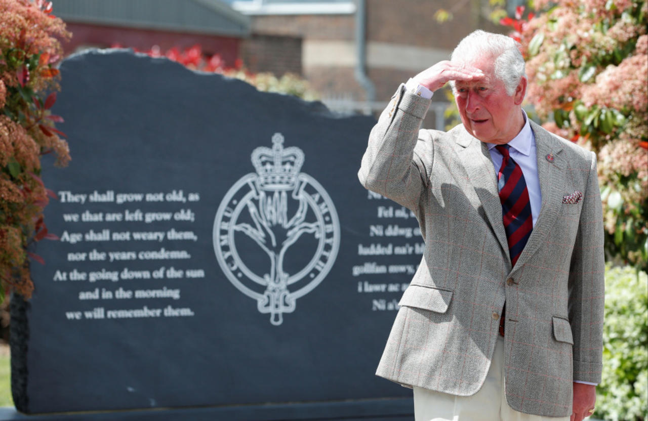 Prince Charles is proud of the Welsh Guards who took part in Prince Philip's funeral
