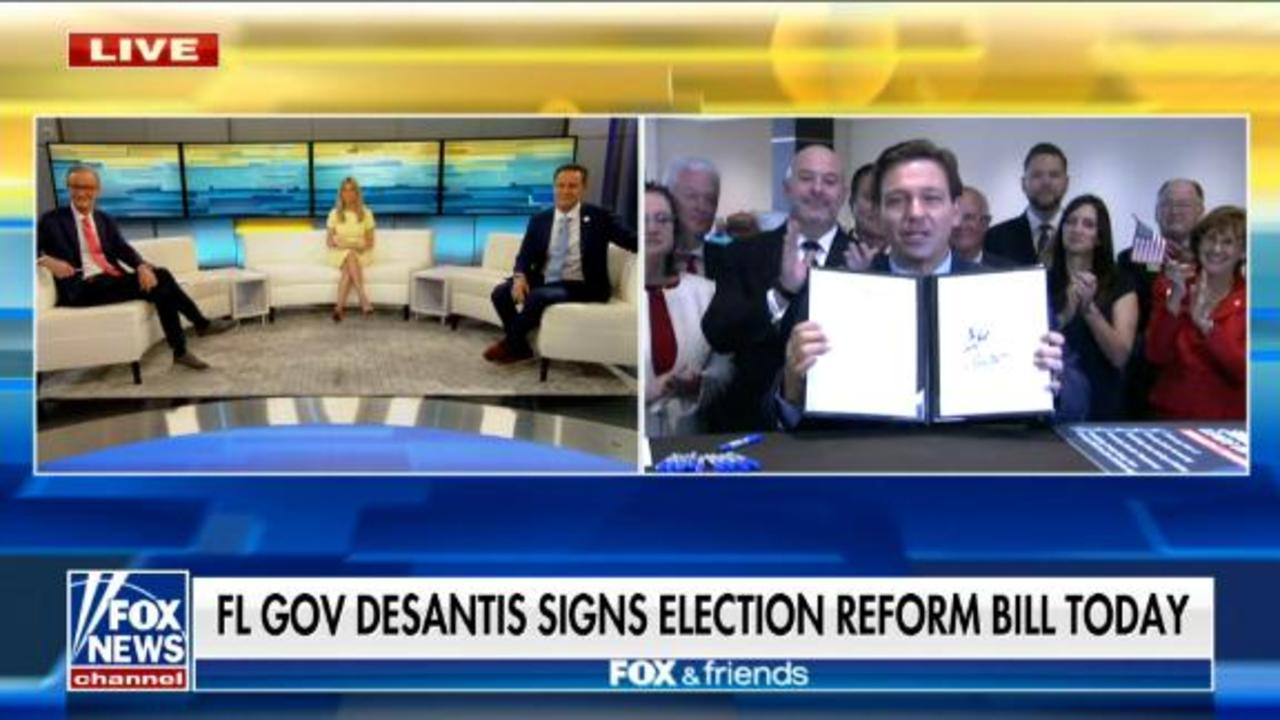 Florida governor goes on Fox News to sign controversial law