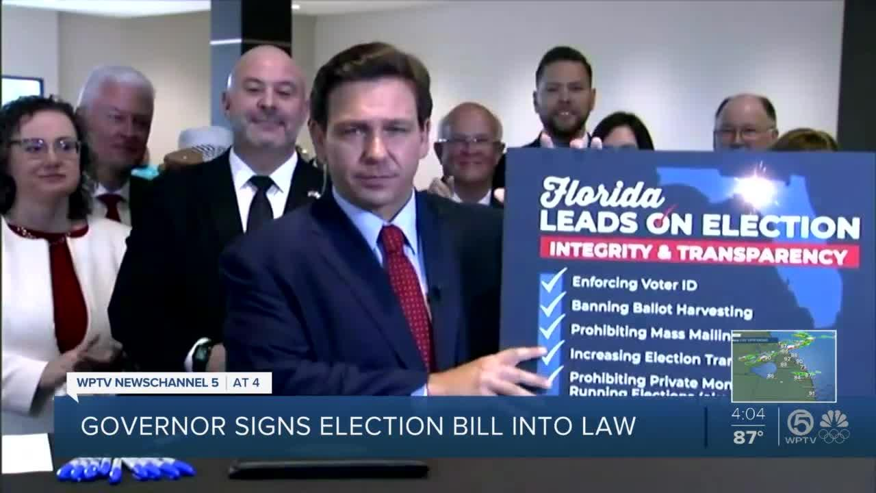 Gov. Ron DeSantis doesn't allow local media to attend signing of new election law