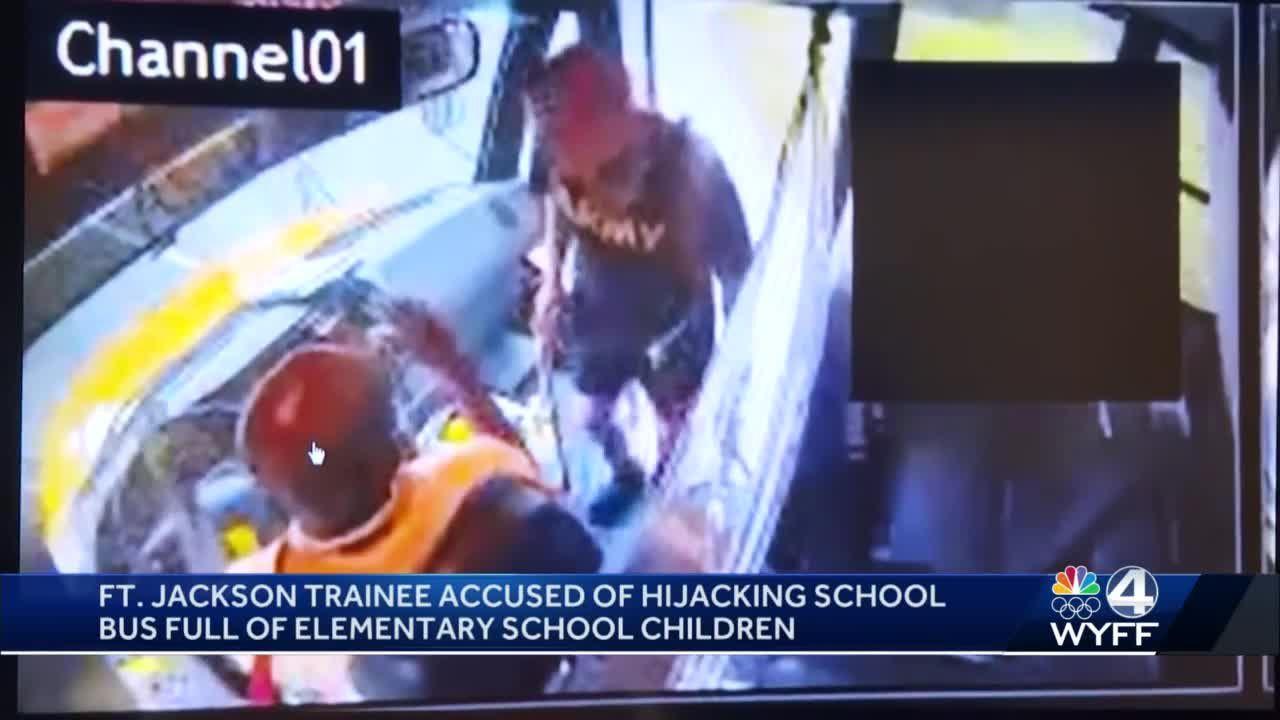 Fort Jackson trainee identified after hijacking school bus, deputies say