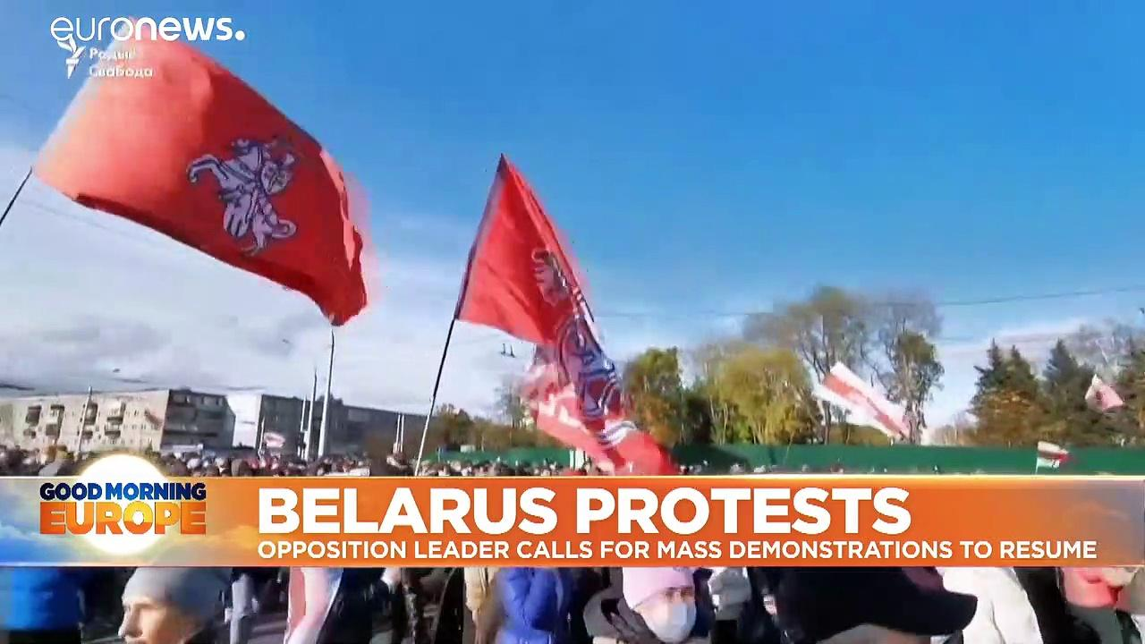 'We do not give up!' Belarus opposition calls for new mass protests and tougher EU sanctions
