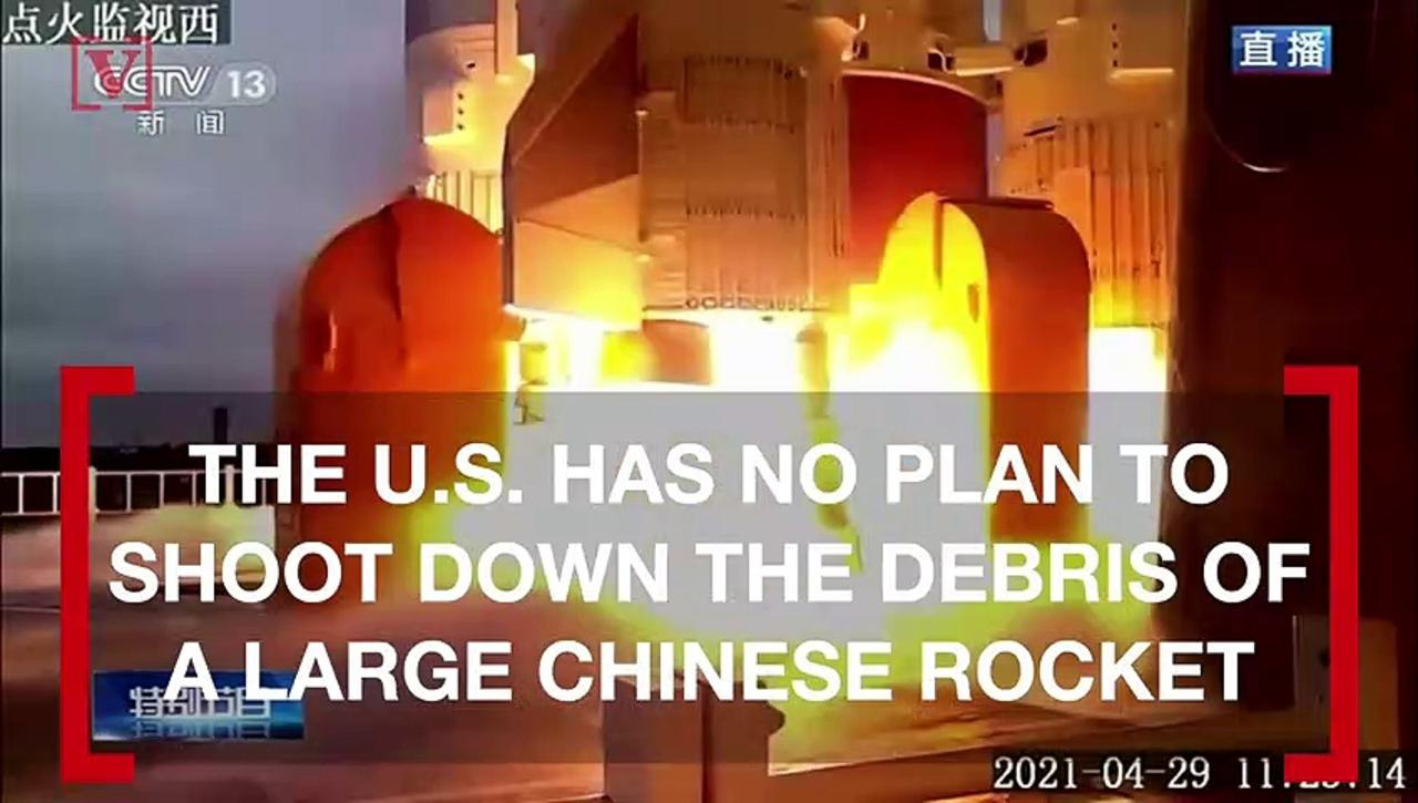 U.S. Military Has No Plan to Shoot Down Uncontrolled Chinese Rocket Set to Hit Earth