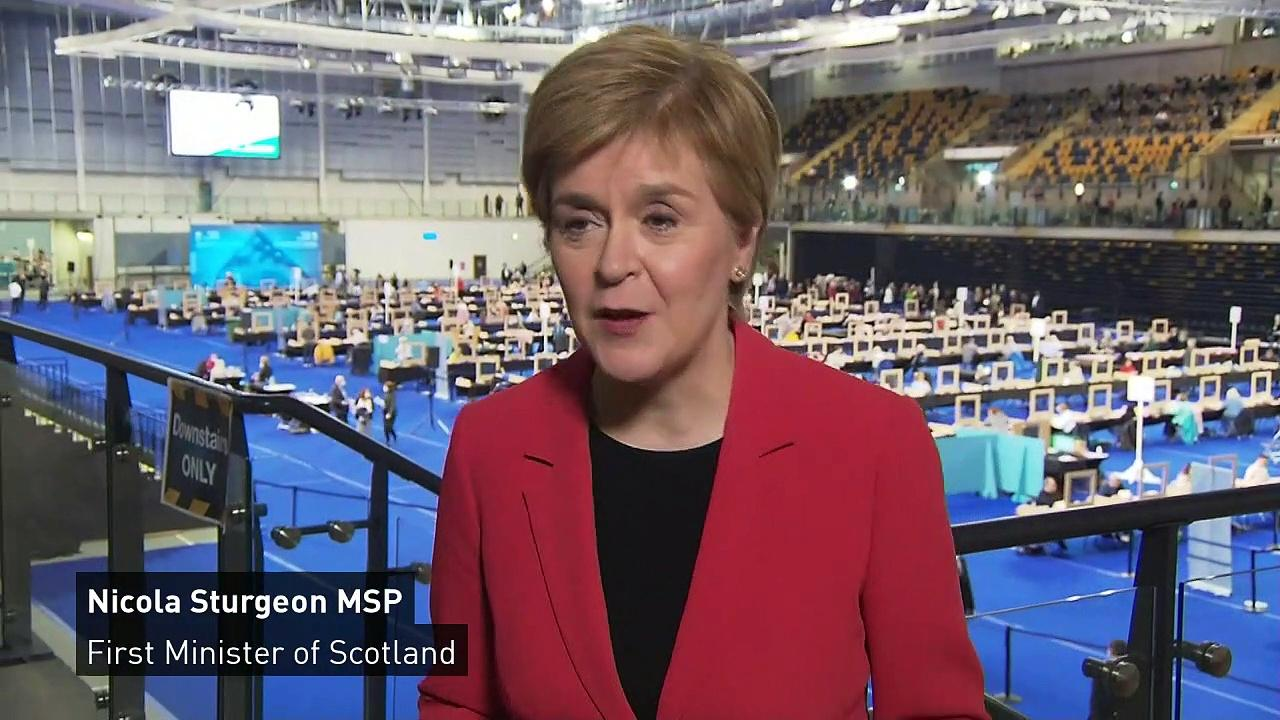 Sturgeon feeling 'extremely happy' SNP on track for victory