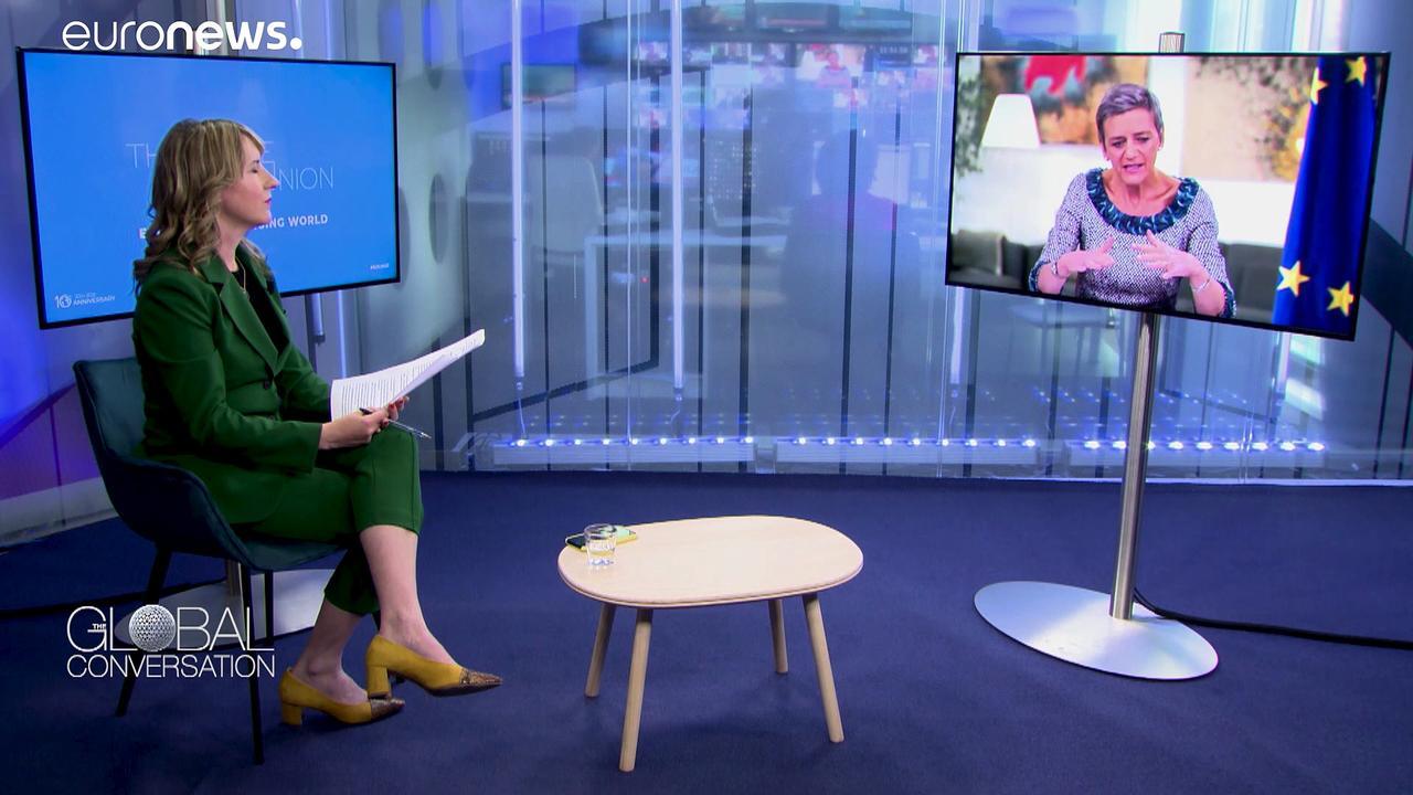 Margrethe Vestager explains the EU's position in the global battle for data