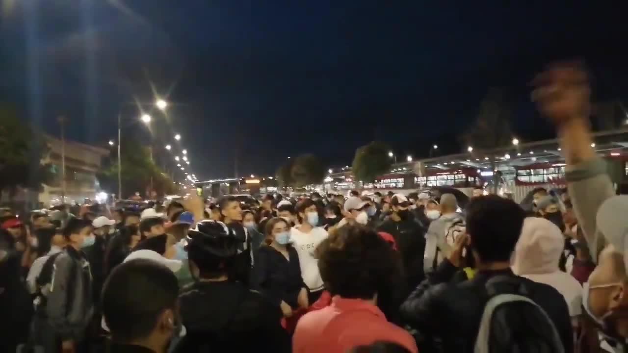 Anti-government mass protests continue in Bogota, Colombia