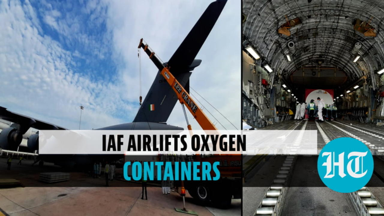 Watch: IAF airlifts oxygen containers from Singapore & Bangkok amid Covid crisis