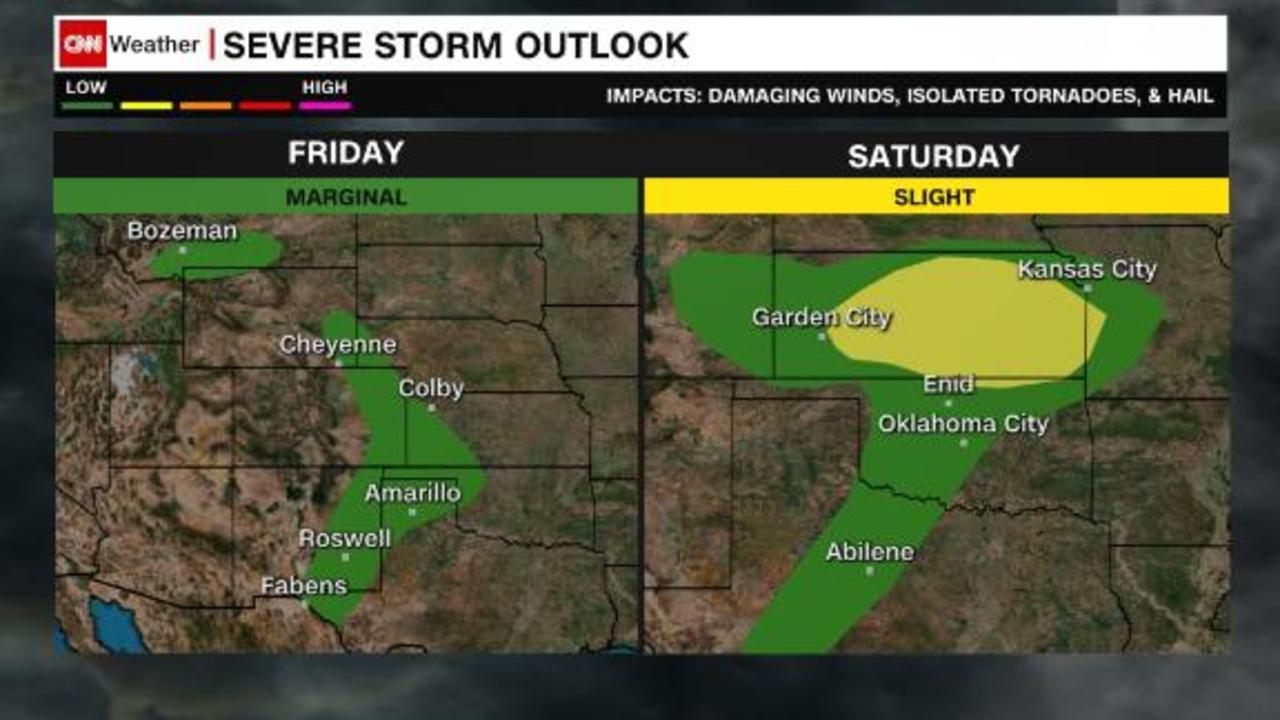 Cool temperatures and an increasing severe storm threat  for Texas and surrounding states