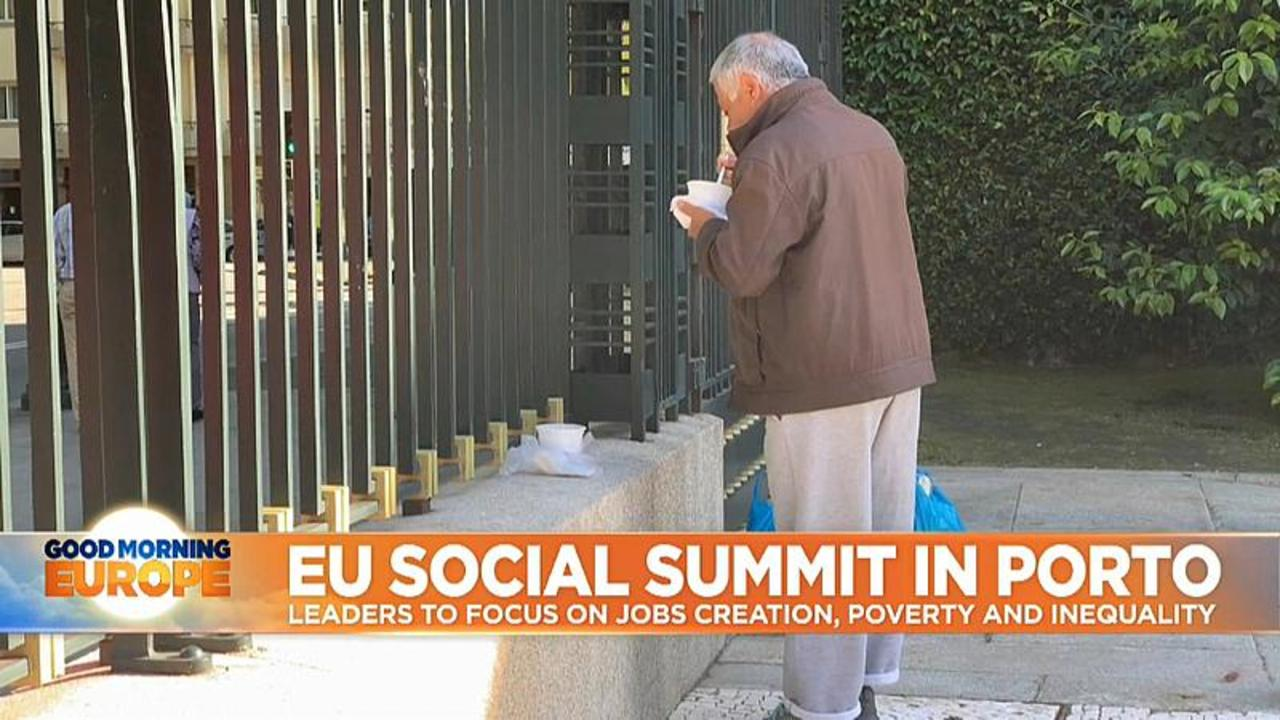 EU leaders to focus on job creation, poverty and inequality in two-day summit in Porto