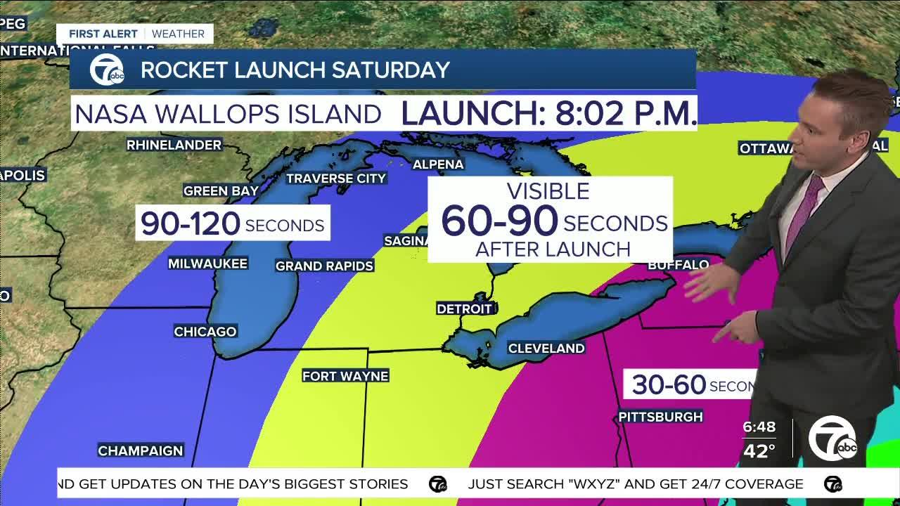 NASA rocket launch Saturday could briefly be visible in metro Detroit