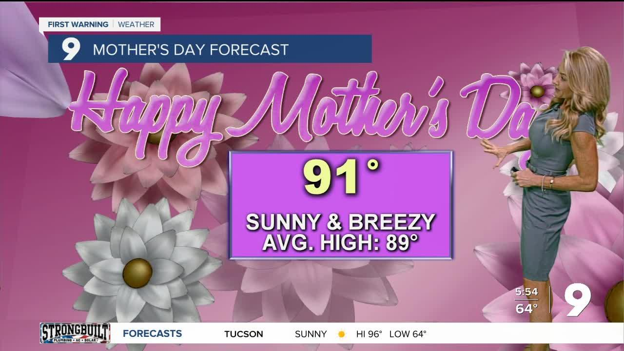 Breezy and cooler for Mother's Day weekend