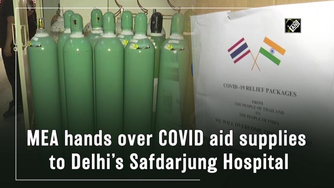 MEA hands over COVID aid supplies to Delhi's Safdarjung Hospital