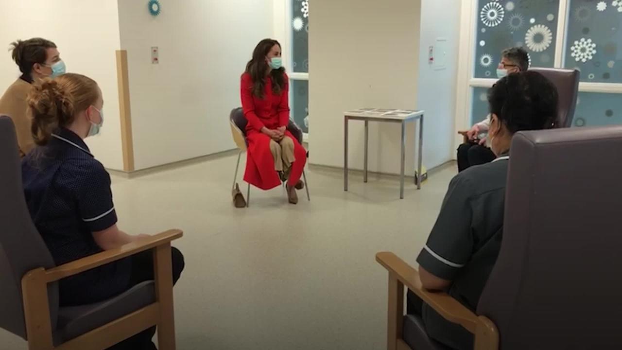 Duchess of Cambridge visits Royal London Hospital