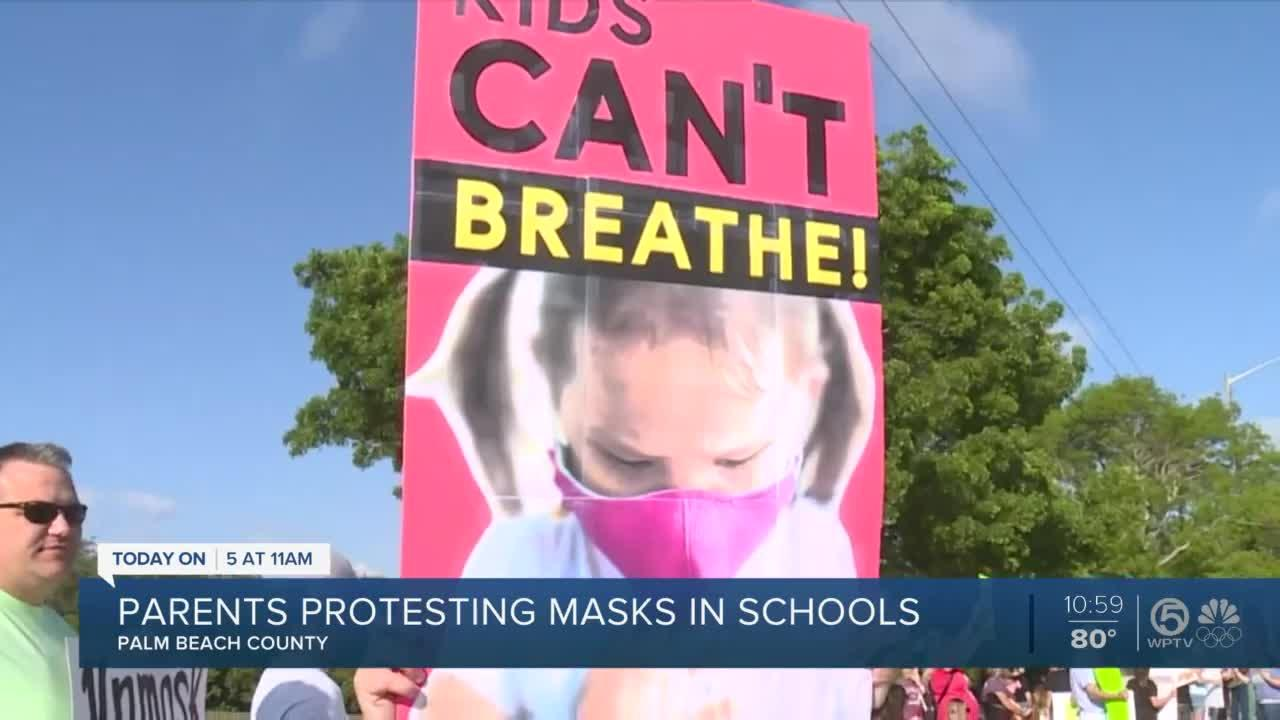 Parents protest Palm Beach County's school mask requirements