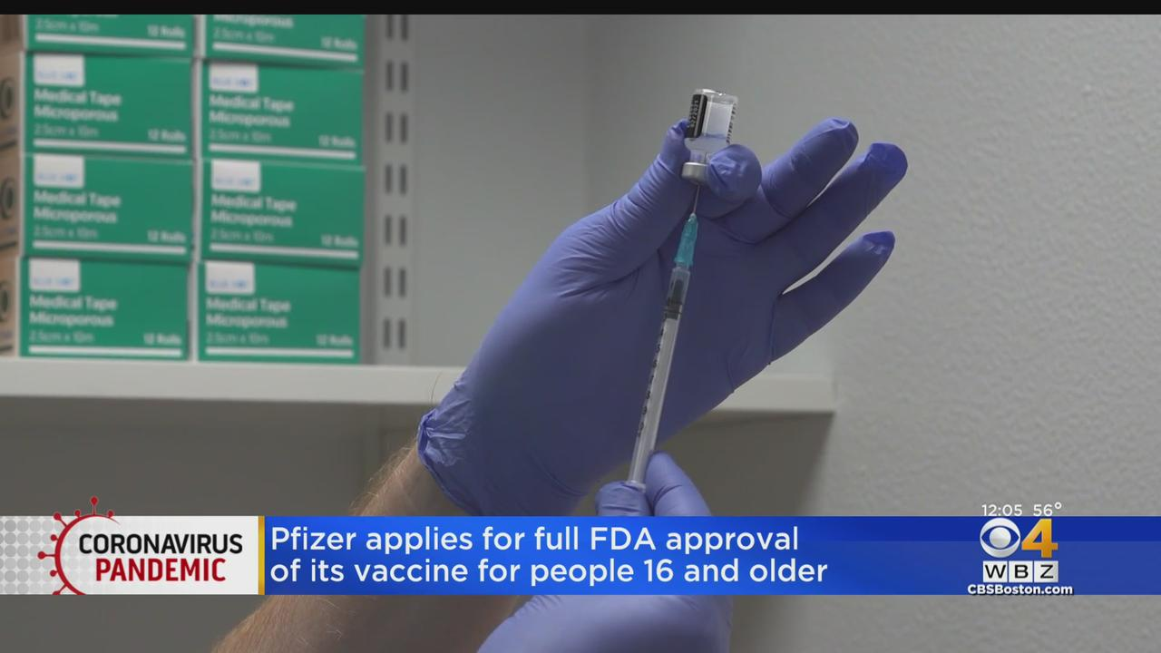 Pfizer Seeks Full FDA Approval For Its COVID-19 Vaccine